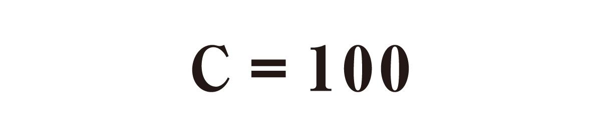 C=100